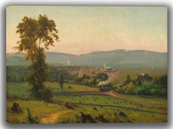 Inness, George: The Lackawanna Valley. Fine Art Canvas. Sizes: A4/A3/A2/A1 (004094)